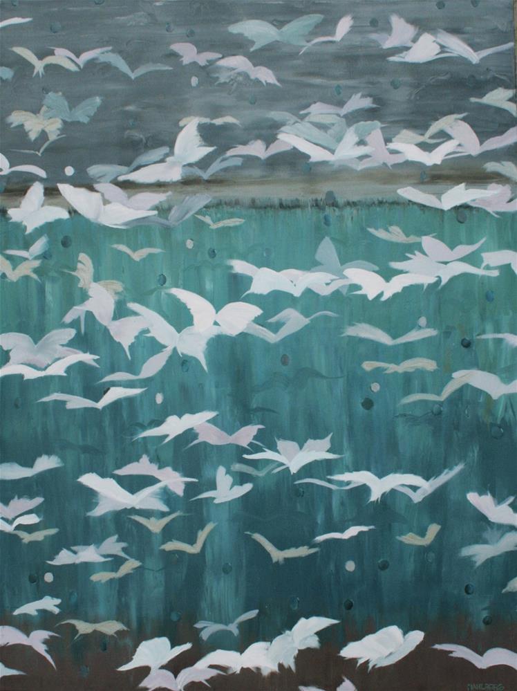 """Liz's Butterflies"" original fine art by Cynthia Mahlberg"
