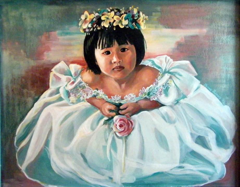 """""""Little Brides Maid"""" original fine art by Donna Whatcott Parsons"""