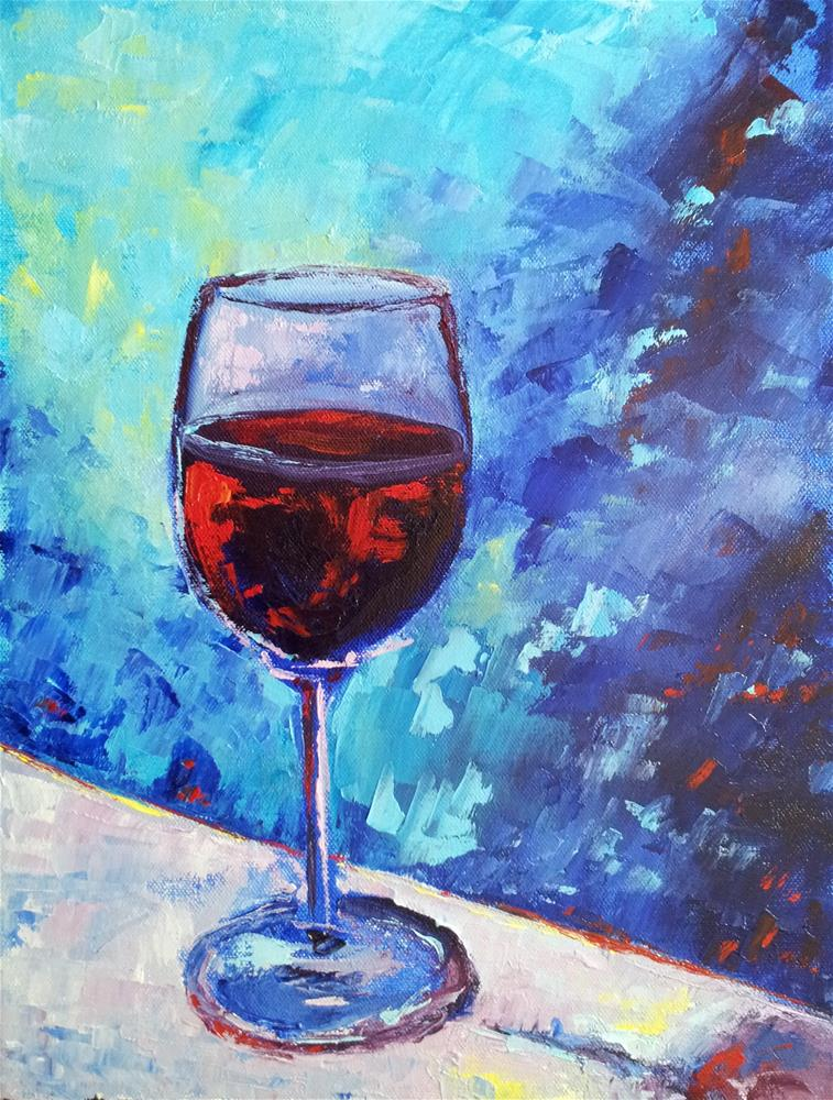 """By the Glass"" original fine art by Loralee Chapleau"