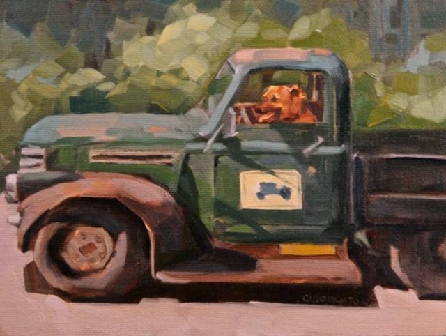 """Dog Gone"" original fine art by C J Roughton"