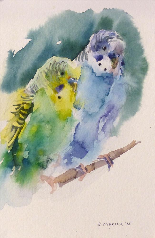 """budgie1"" original fine art by Katya Minkina"