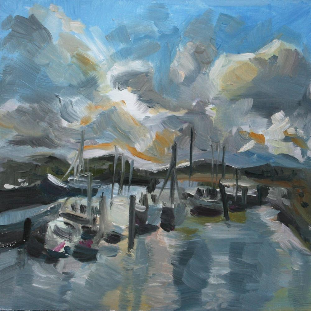 """Harbor"" original fine art by Aniko Makay"
