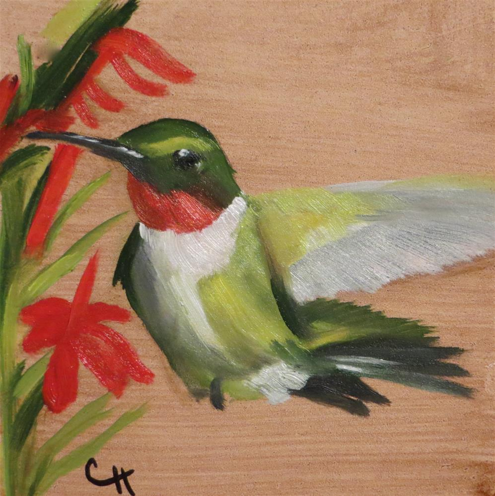 """Hummingbird no. 3"" original fine art by Claire Henning"