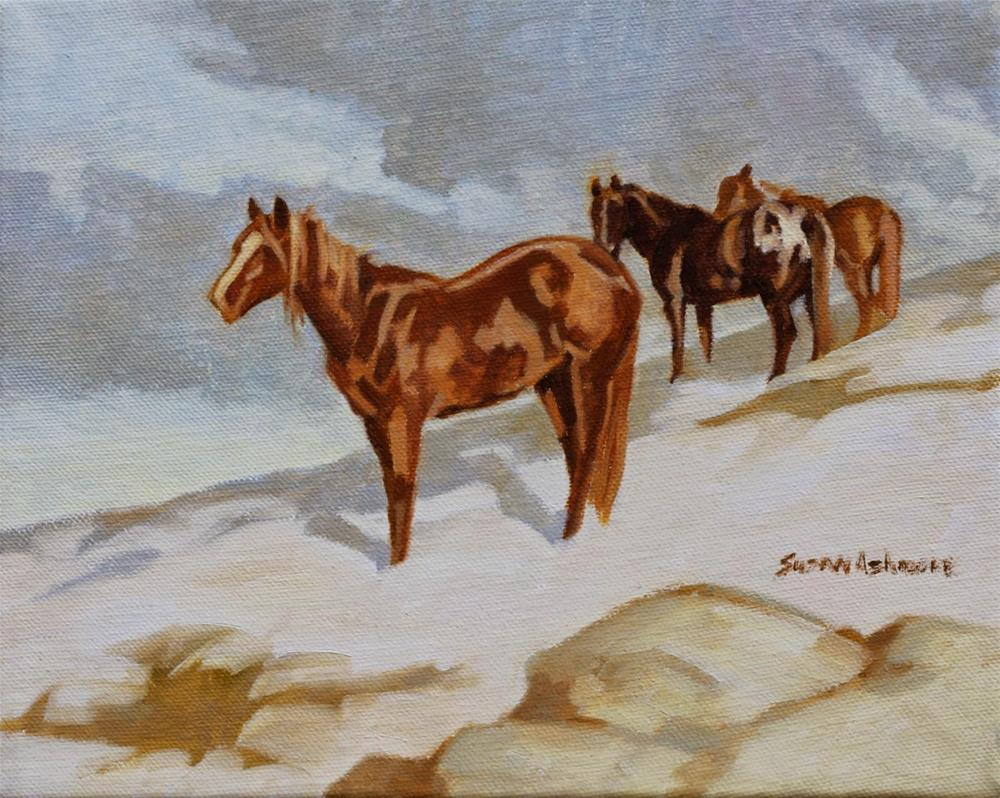 """Mountain Pony    8  x 10 in"" original fine art by Susan Ashmore"