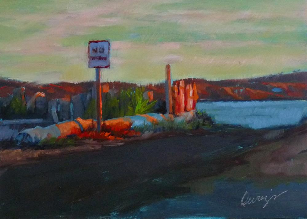 """No Parking"" original fine art by Sharman Owings"