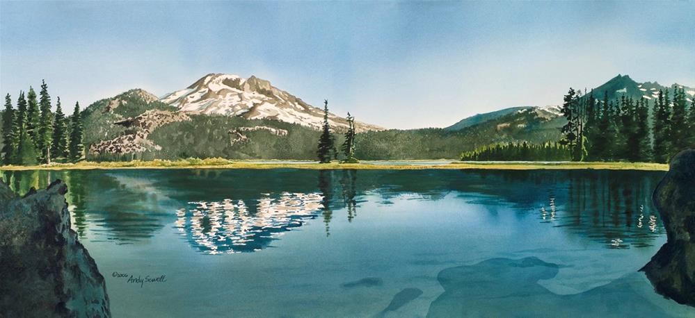 """""""A Place of Peace ~ Sparks Lake, Bend OR"""" original fine art by Andy Sewell"""
