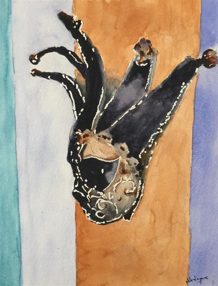 """Carnival Mask"" original fine art by Juan Velasquez"