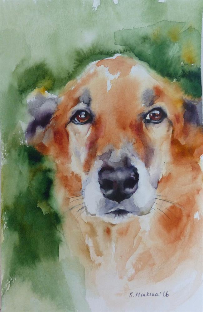 """adopt189 - Bailey"" original fine art by Katya Minkina"