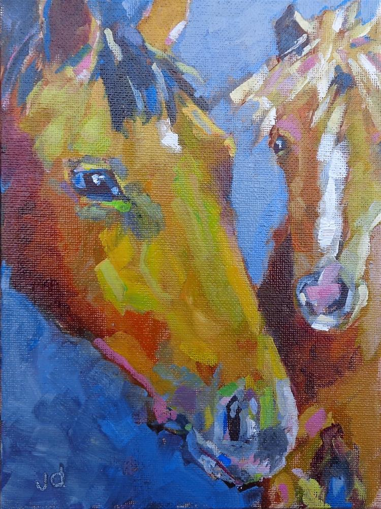"""Comforting"" original fine art by Jean Delaney"