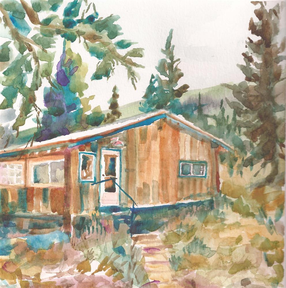 """Pam and Jan's, Westcliffe, Colorado"" original fine art by jean krueger"
