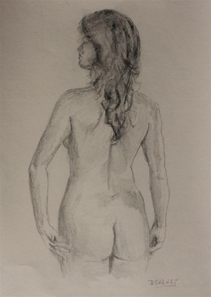 """Nude sketch"" original fine art by Daniel Varney"