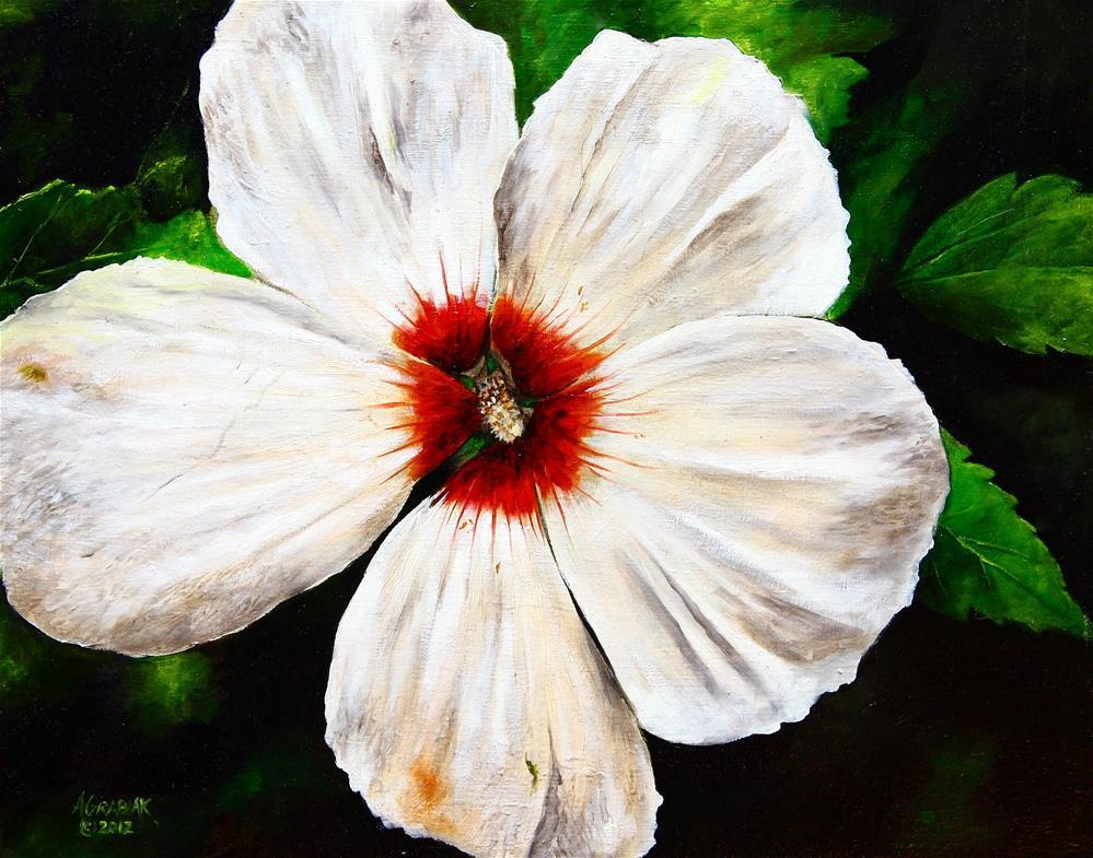 """Rose of Sharon"" original fine art by Aaron Grabiak"
