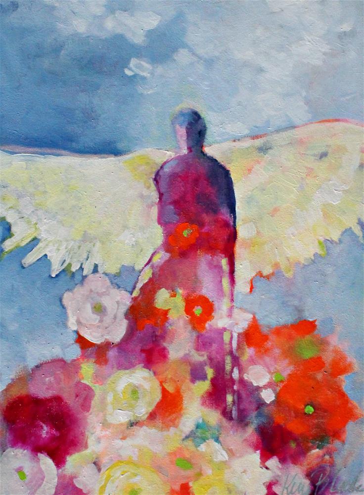 """Gardening Angel "" original fine art by Kerri Blackman"