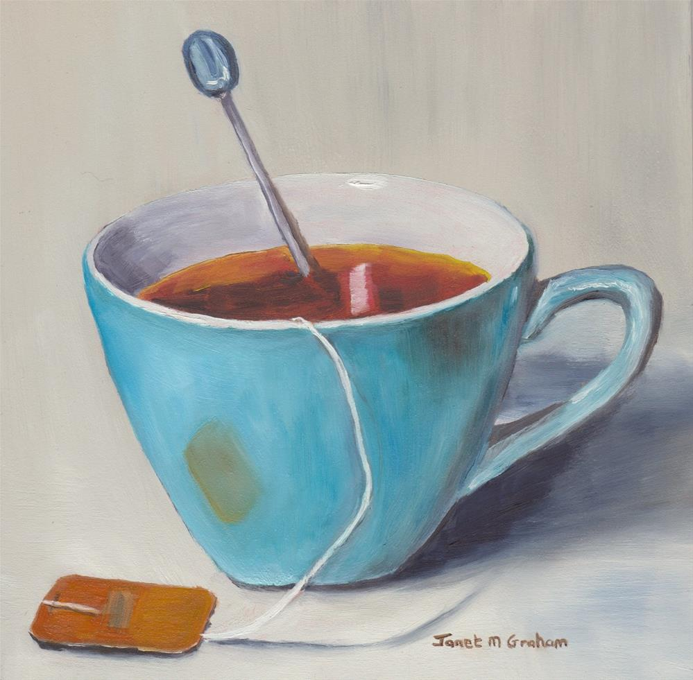 """Cup of Tea"" original fine art by Janet Graham"