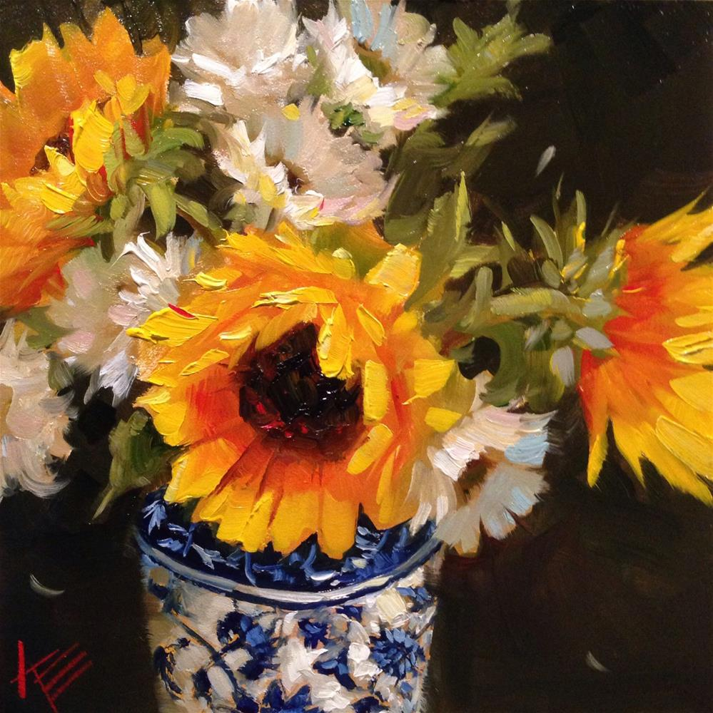 """All things Bright & Beautiful"" original fine art by Krista Eaton"