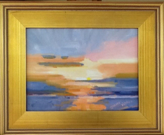 """GOLDEN SUNSET"" original fine art by Charlotte Bankhead Hedrick"