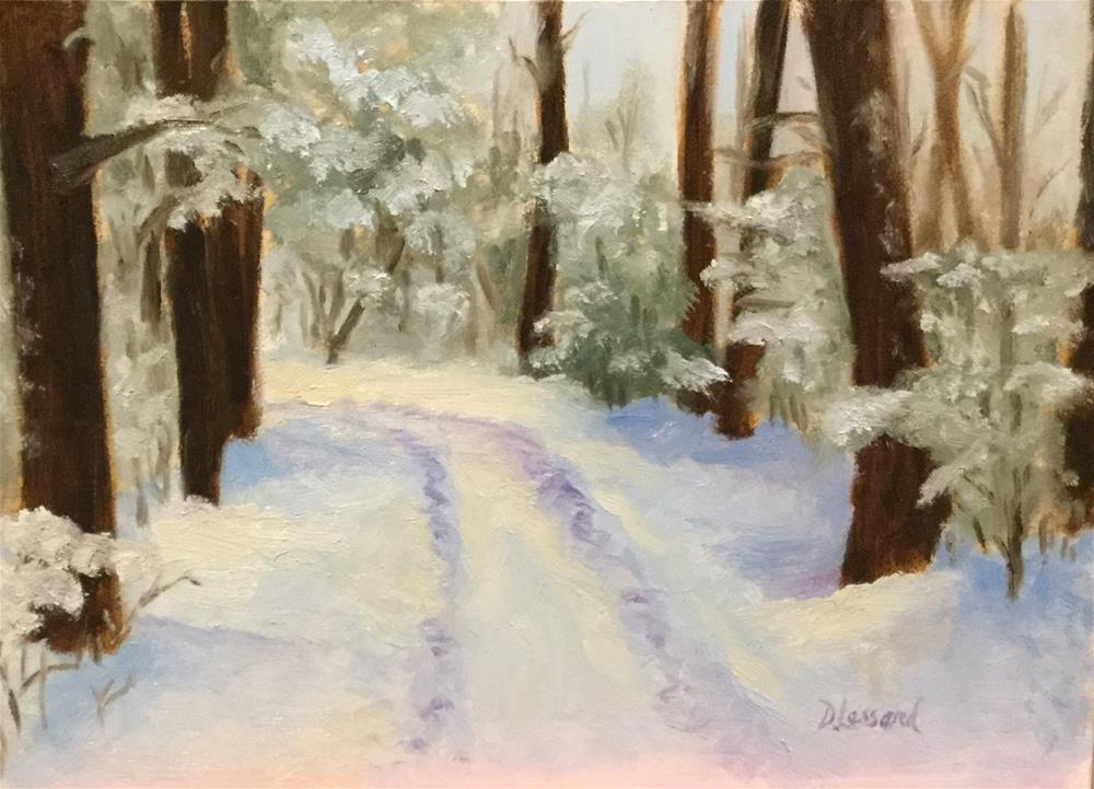 """Winter path #1613"" original fine art by Dee Lessard"