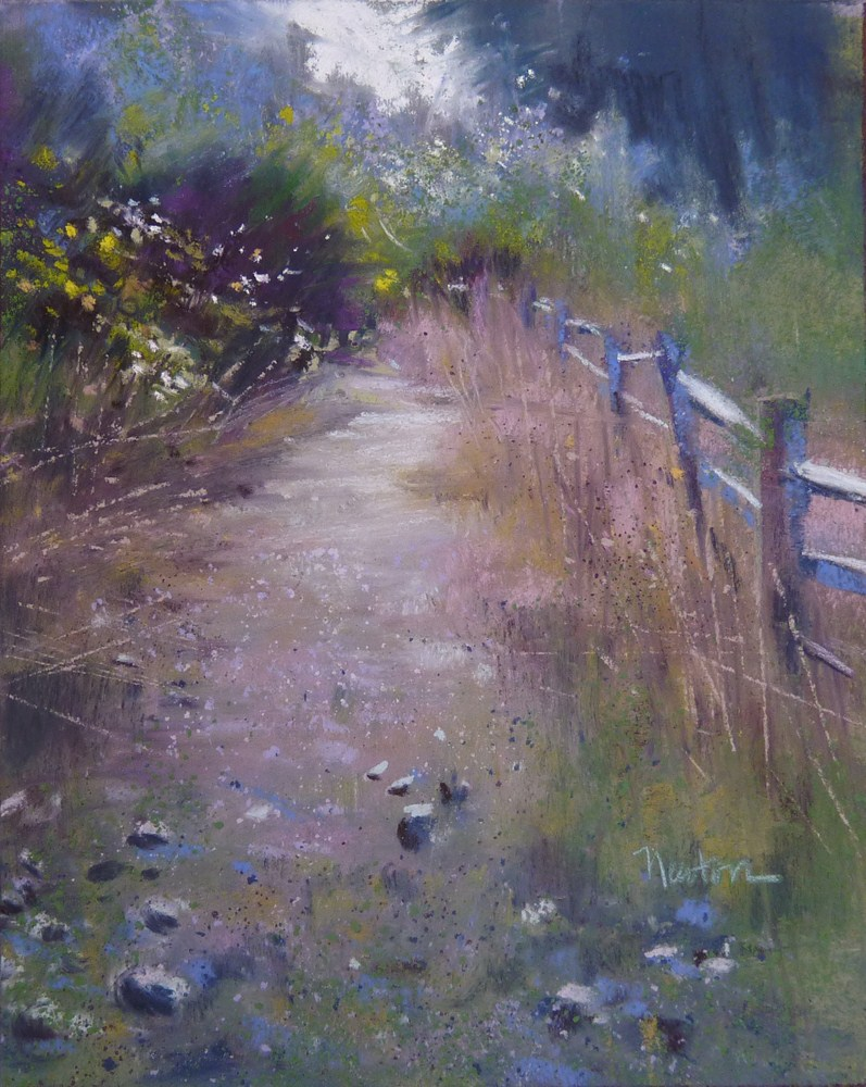 """Study for a larger work - Stony Path."" original fine art by Barbara Benedetti Newton"