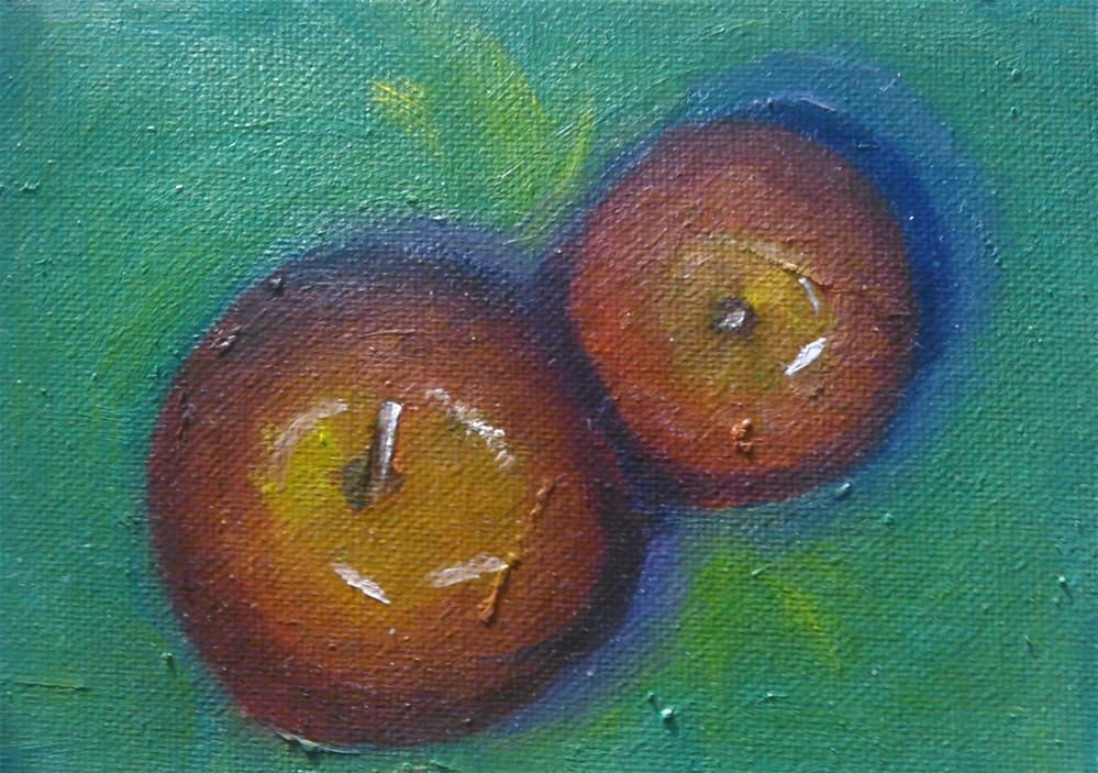 """Apple plus one"" original fine art by Gerri Obrecht"