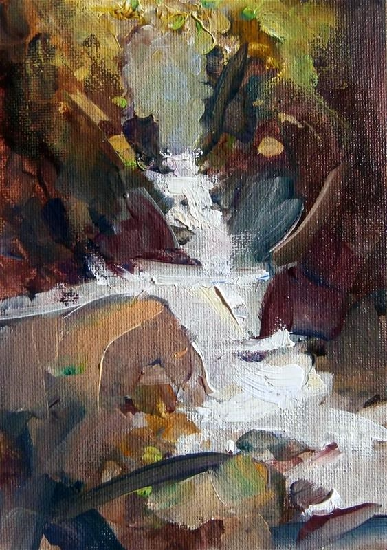 """""""Mossy Glen"""" original fine art by Anne Wood"""