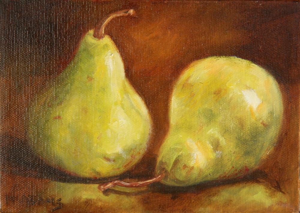 """pears"" original fine art by Phyllis McAdams"