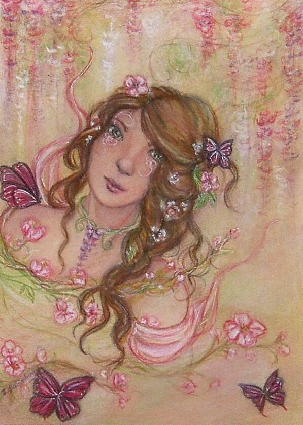 """""""Spring"""" original fine art by Julie Rabischung"""