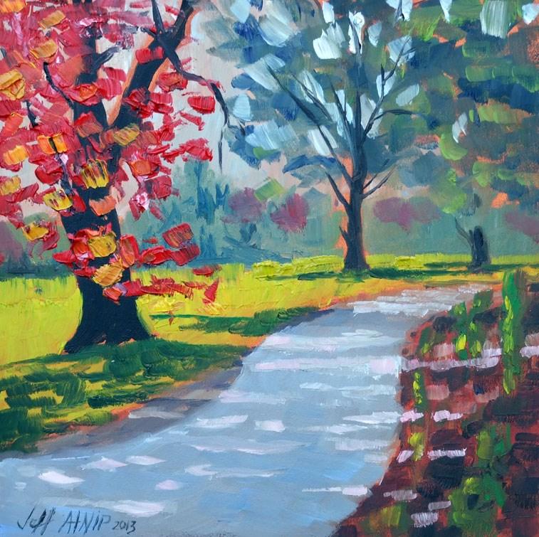 """Walk in the Park"" original fine art by Jeff Atnip"