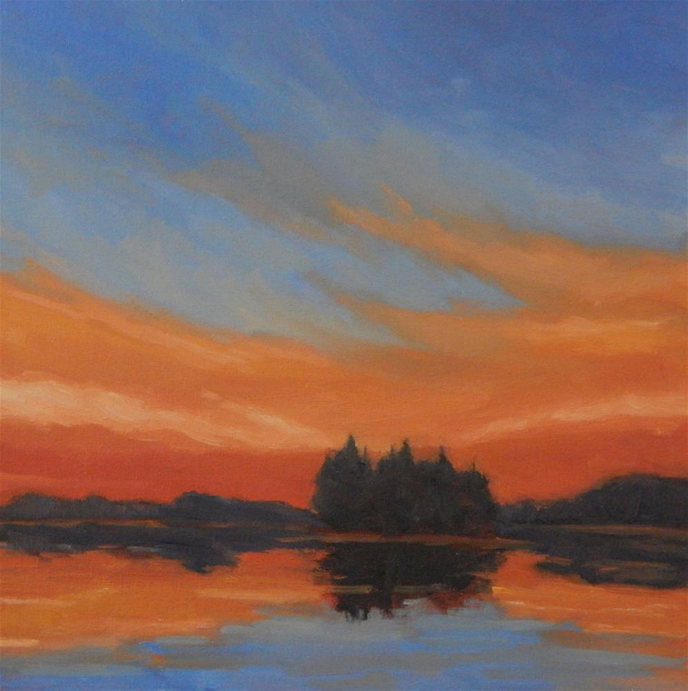 """Fiery Sunset"" original fine art by Lisa Kyle"