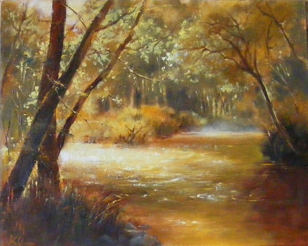 """Stream of light"" original fine art by Celine K.  Yong"