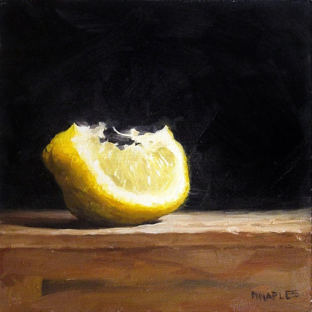 """Lit Up Lemon Wedge"" original fine art by Michael Naples"