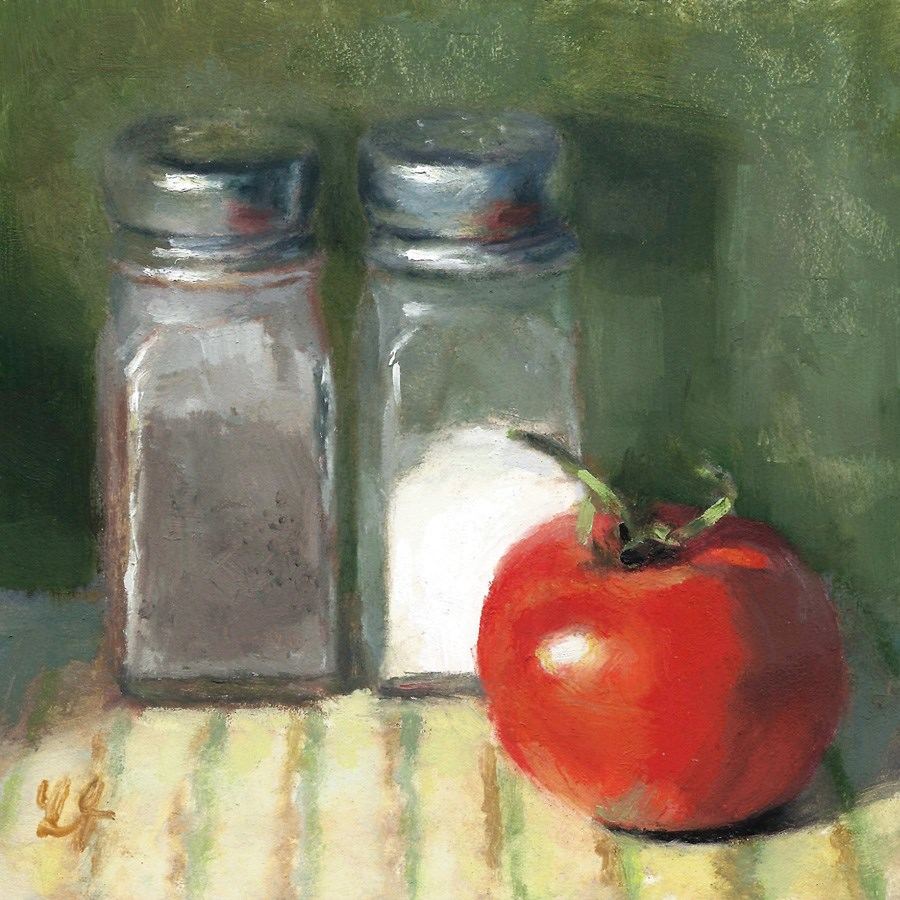 """Juicy Tomato"" original fine art by Linda Jacobus"