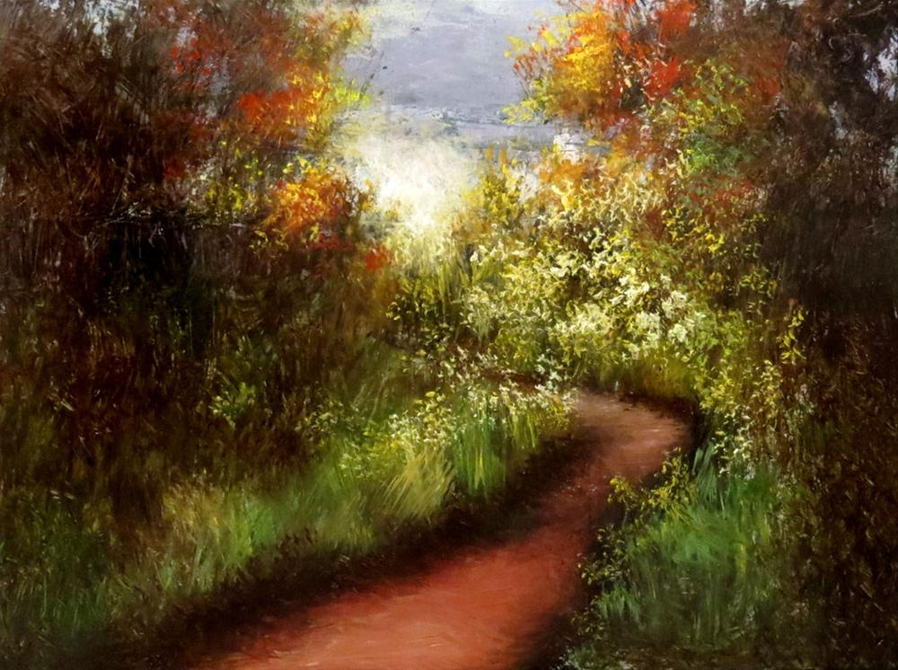 """Flowery Path"" original fine art by Bob Kimball"
