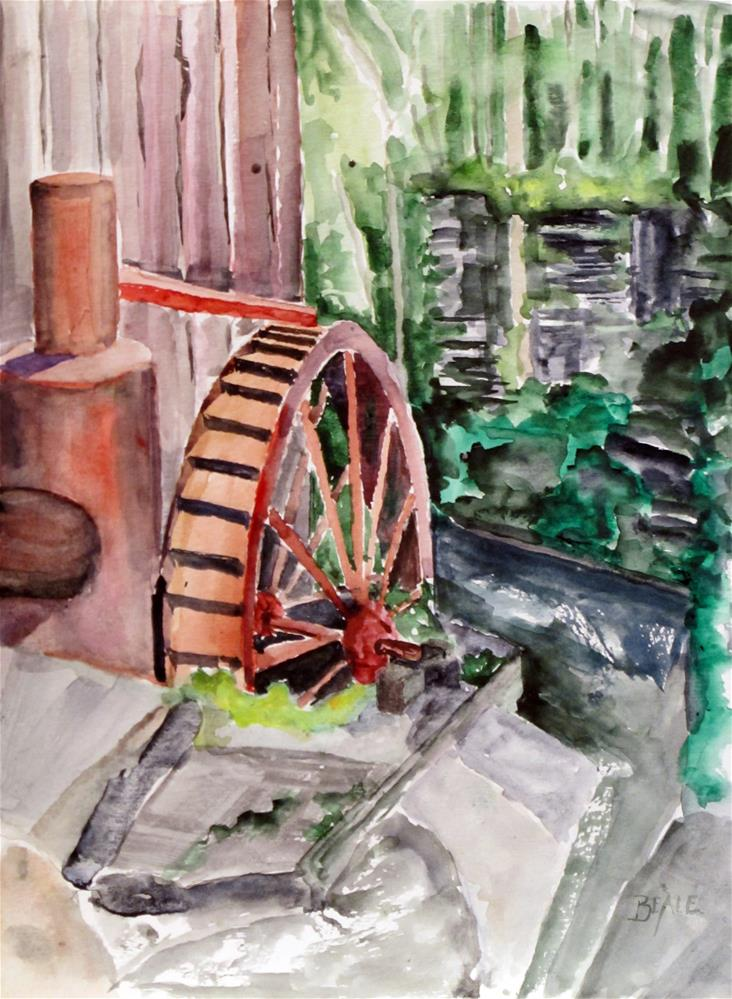 """New Hope Mill"" original fine art by  David Beale"