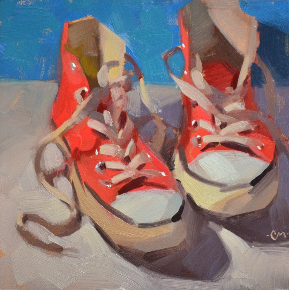 """Red Chucks"" original fine art by Carol Marine"