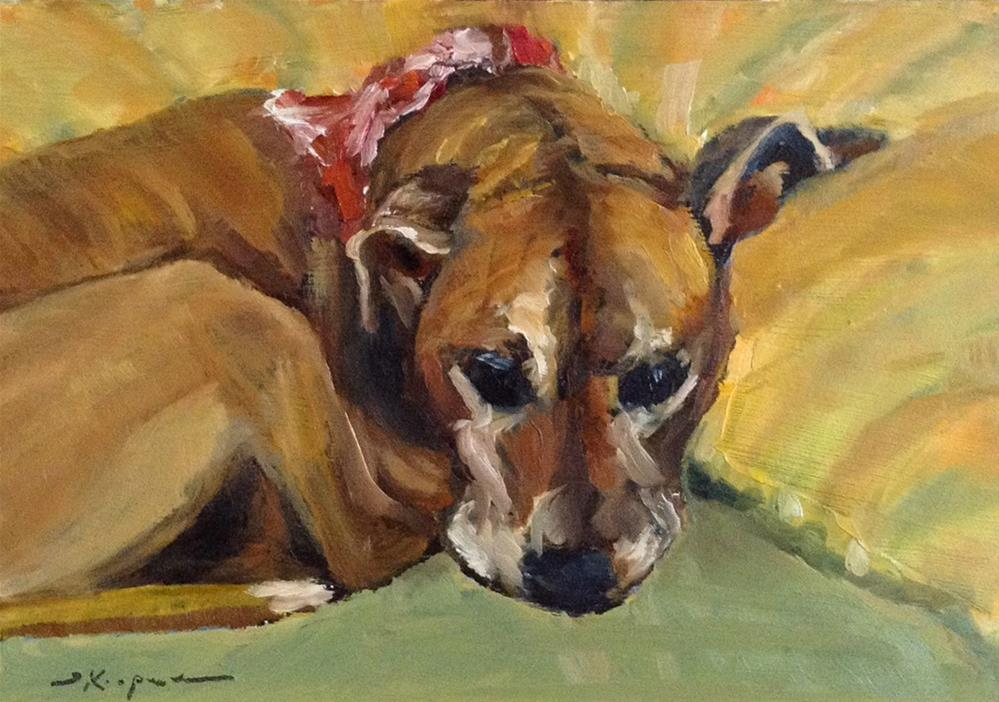 """It's a Tough Life"" original fine art by Shelley Koopmann"