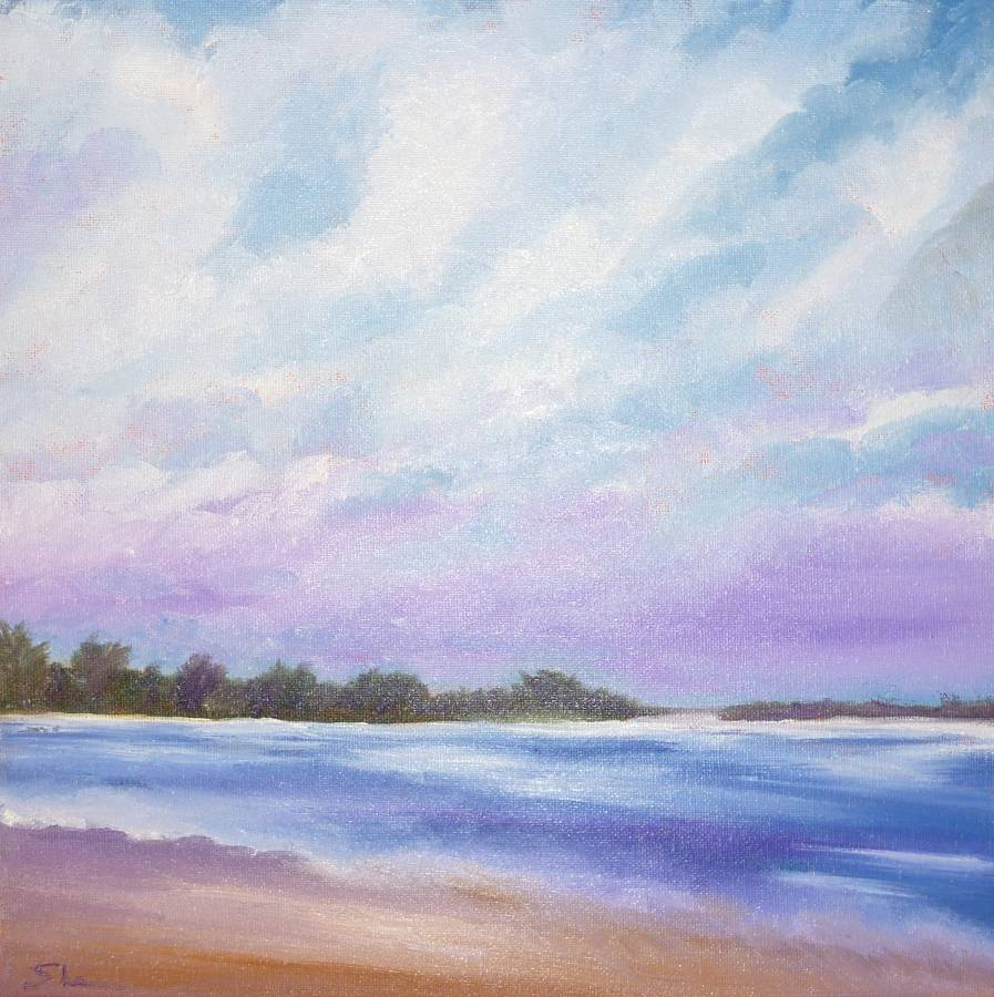"""Clouds and Sea"" original fine art by Shawn Deitch"