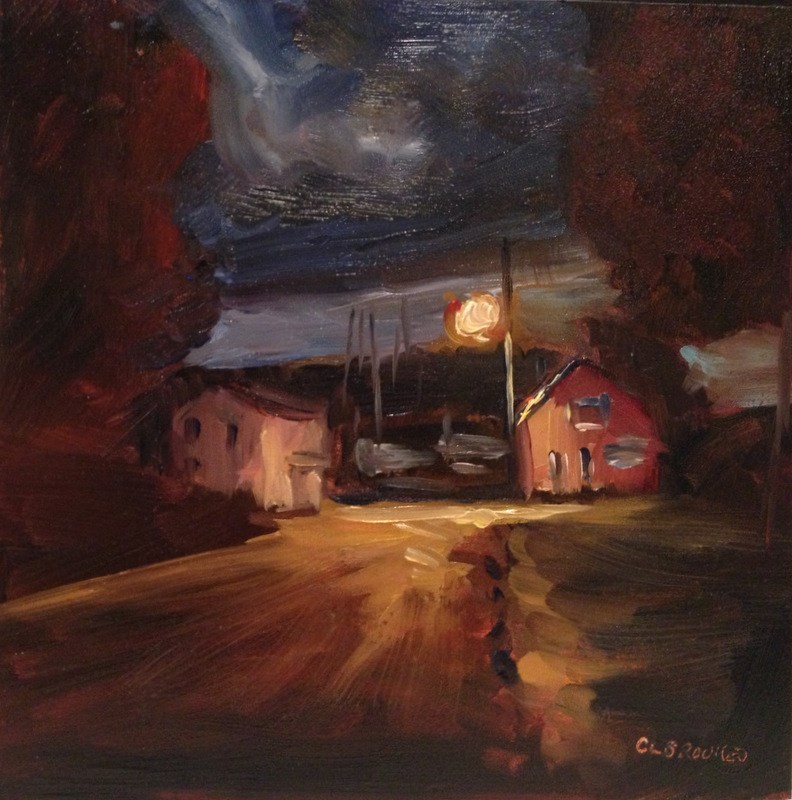"""Nocturne, Havre de Grace, Day 97"" original fine art by Claudia L Brookes"