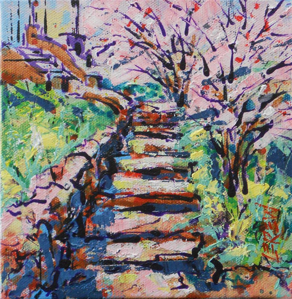"""Rocky Stairway to Heaven by Larry Lerew 130513"" original fine art by Larry Lerew"