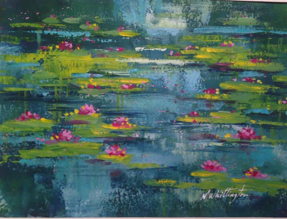"""Lily Pads 4"" original fine art by Margie Whittington"