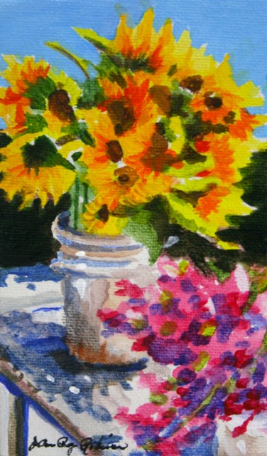 """Thoughts of August"" original fine art by JoAnne Perez Robinson"