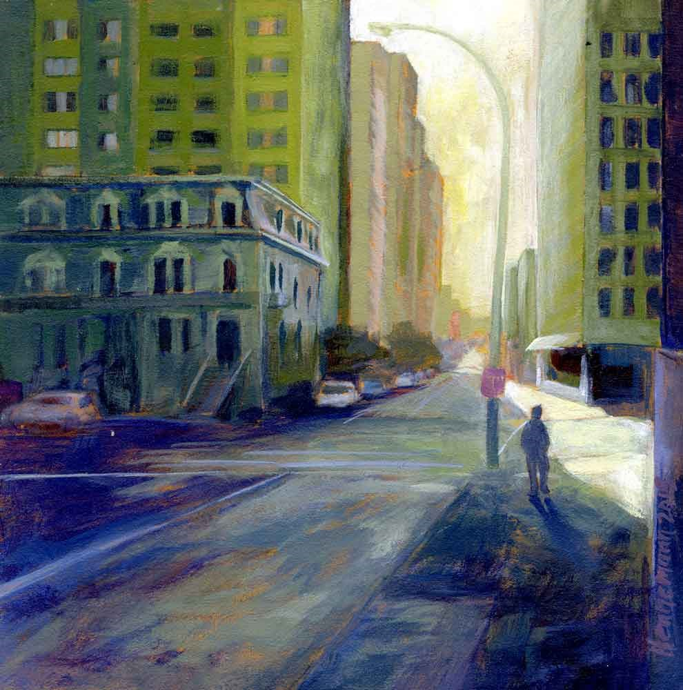 """Sherbrooke Street in the morning"" original fine art by Eileen Hennemann"