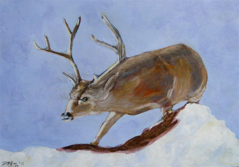 """Angry Buck"" original fine art by Paul Zarza"