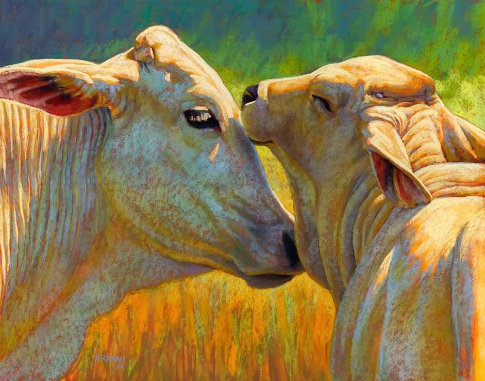 """Familial Bliss in Southwest Art Magazine"" original fine art by Rita Kirkman"