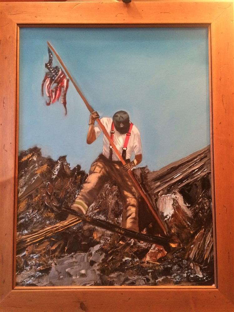 """The Fireman"" original fine art by Kenny Arnold"
