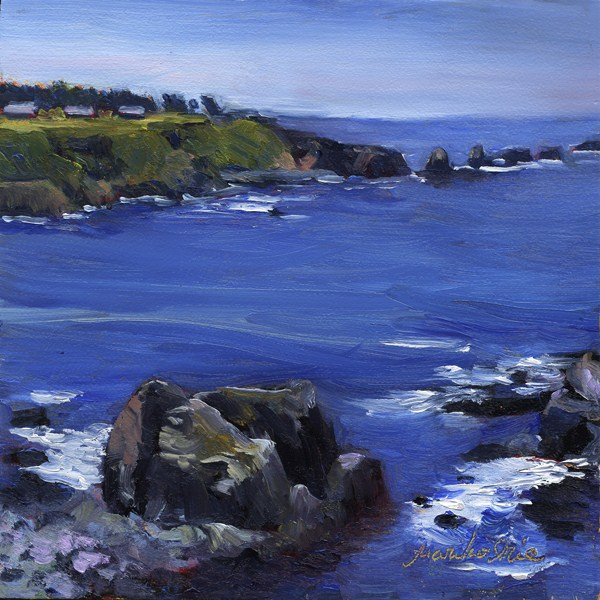 """Mendocino Coast"" original fine art by Mariko Irie"