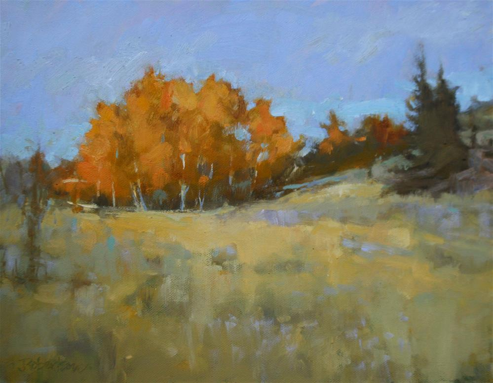 """Autumn Birch Stand II"" original fine art by Jane Robertson"
