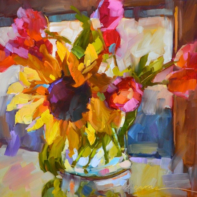 """Magical Morning Sunshine"" original fine art by Dreama Tolle Perry"