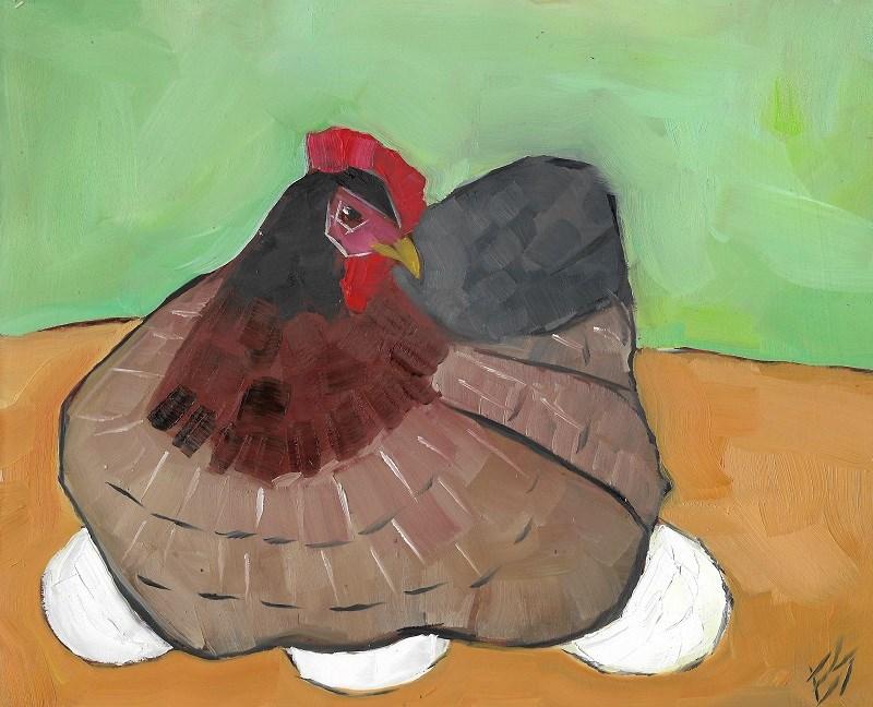"""Hen"" original fine art by Elizabeth See"