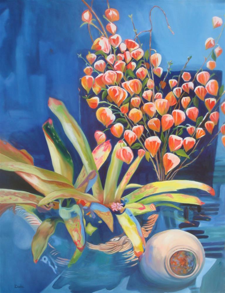 """Chinese Lanterns Form My Heart"" original fine art by Susan Duda"
