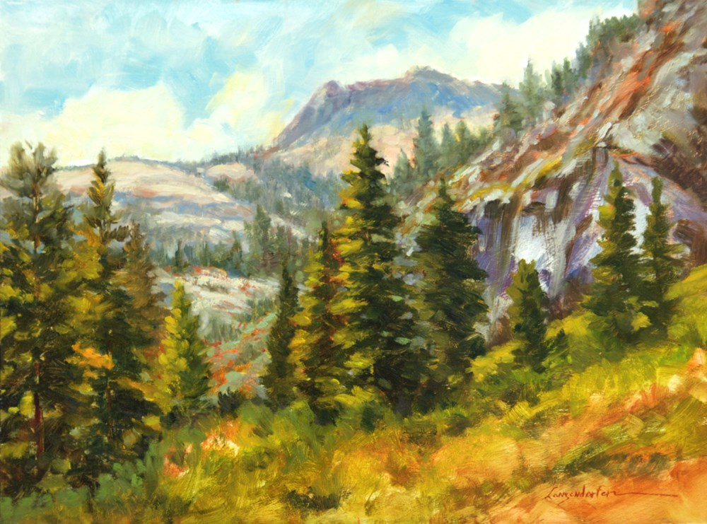 """NEAR EMERALD BAY, TAHOE"" original fine art by Dj Lanzendorfer"